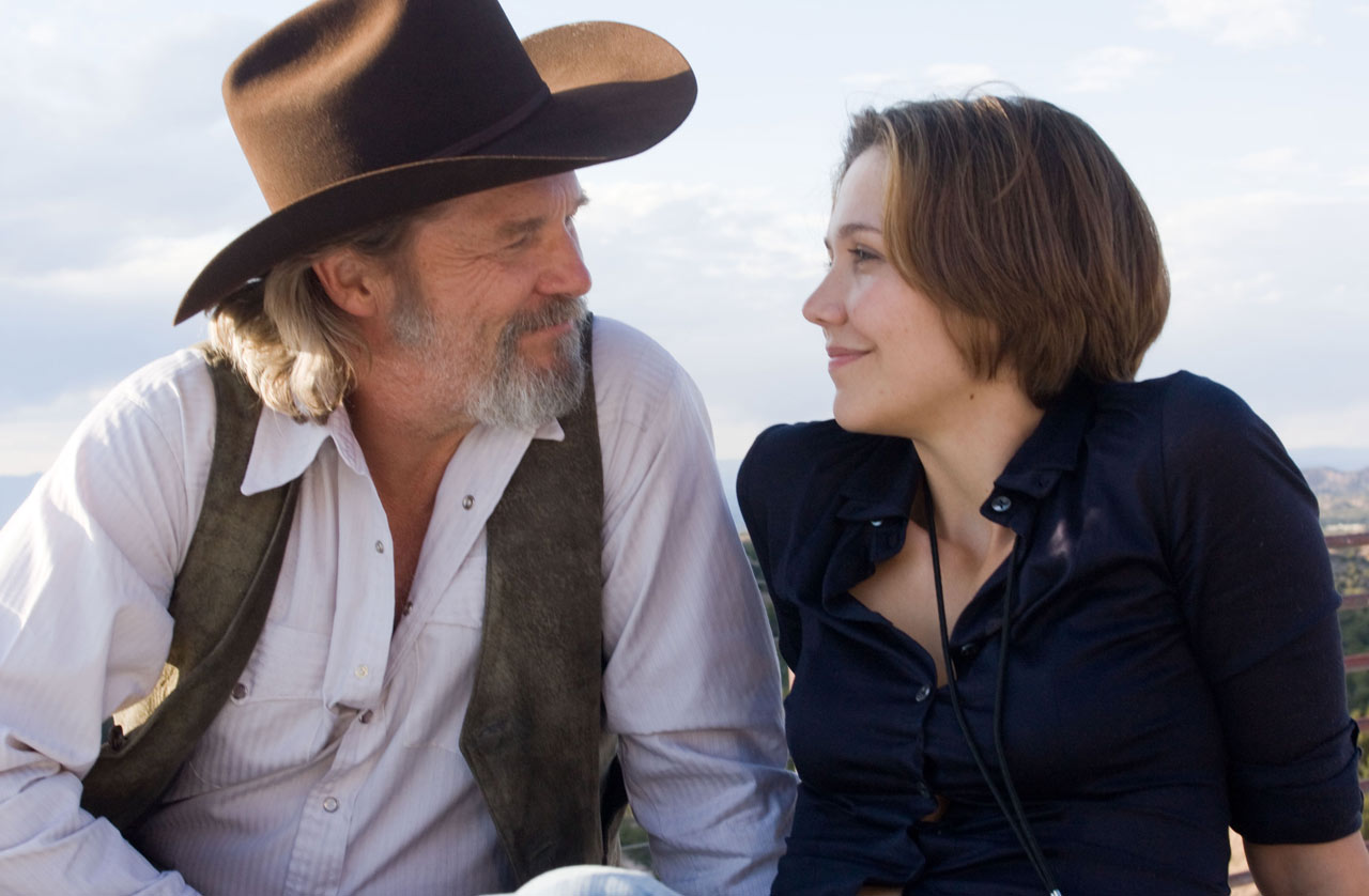 Jeff Bridges and Maggie Gyllenhaal in <em>Crazy Heart</em>