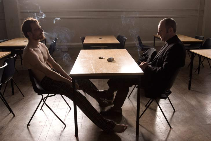 Michael Fassbender and Liam Cunningham in <span class=