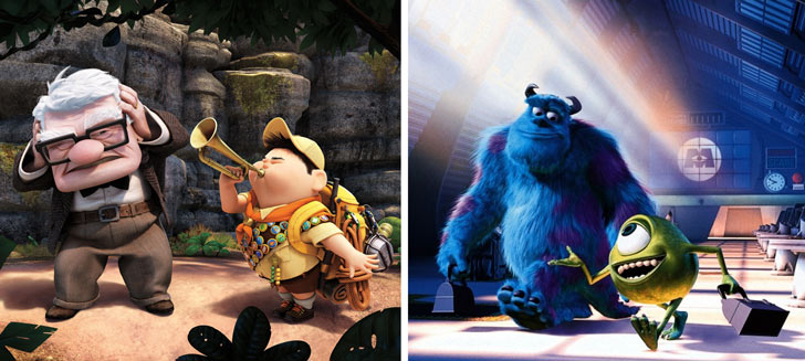 Up and Monsters, Inc. on Blu-ray